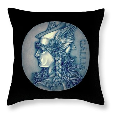 Winter Goddess Of Gaul Throw Pillow by Fred Larucci