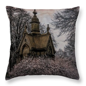 Throw Pillow featuring the digital art Winter Gothik by Chris Lord