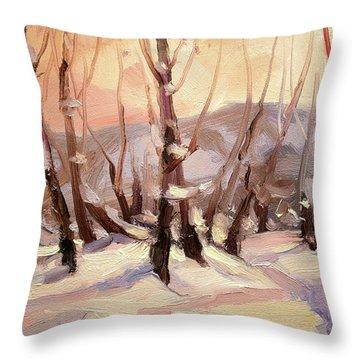 Winter Grove Throw Pillow