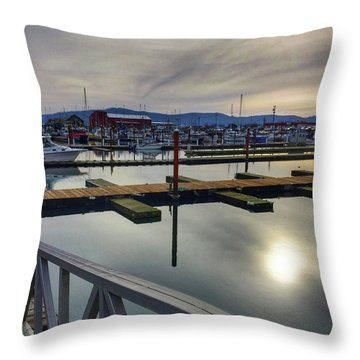 Throw Pillow featuring the photograph Winter Harbor by Chriss Pagani