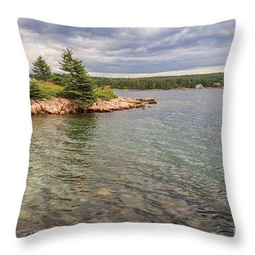 Winter Harbor  Throw Pillow