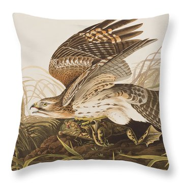 Winter Hawk Throw Pillow