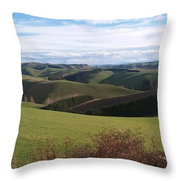 Throw Pillow featuring the photograph Winter Hills by Nareeta Martin