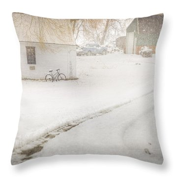 Winter Home Road Throw Pillow