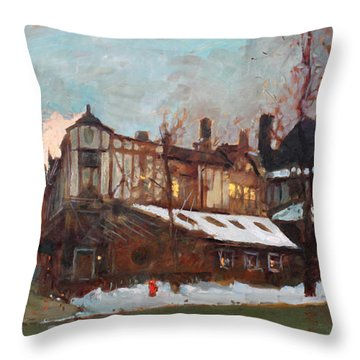 Winter In Buffalo Throw Pillow