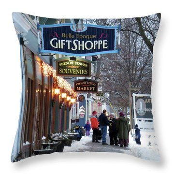 Winter In Cape Vincent Throw Pillow