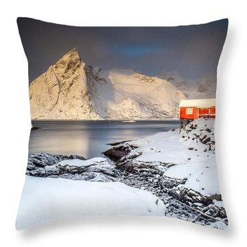 Winter In Lofoten Throw Pillow