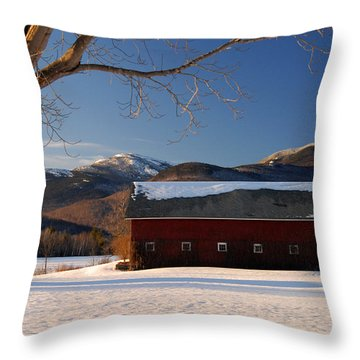 Throw Pillow featuring the photograph Winter In New England by Alana Ranney