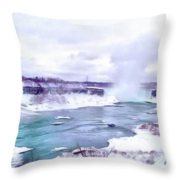 Winter In Niagara 1 Throw Pillow