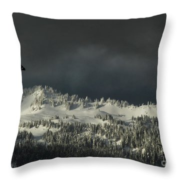 Winter In North Cascades Throw Pillow
