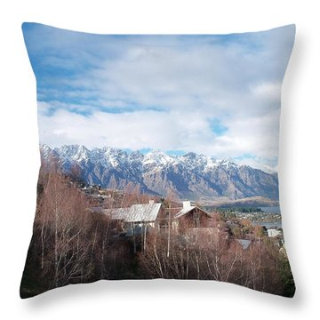 Winter In Queenstown Throw Pillow