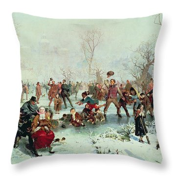 Winter In Saint James's Park Throw Pillow by John Ritchie