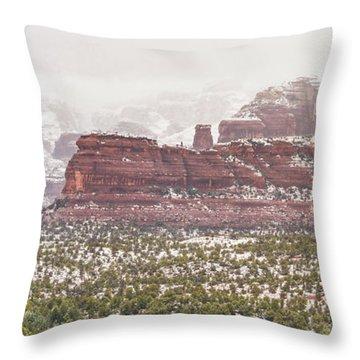 Winter In Sedona Throw Pillow
