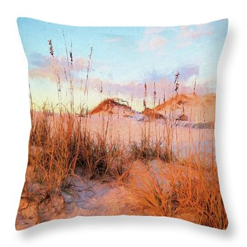 Winter In South Walton Throw Pillow