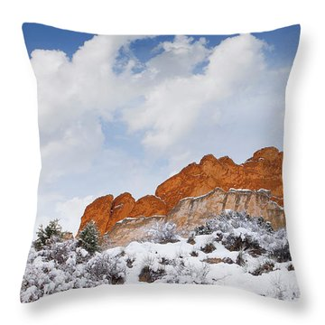 Winter In Spring Throw Pillow