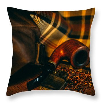 Winter In The Air Throw Pillow by Cesare Bargiggia