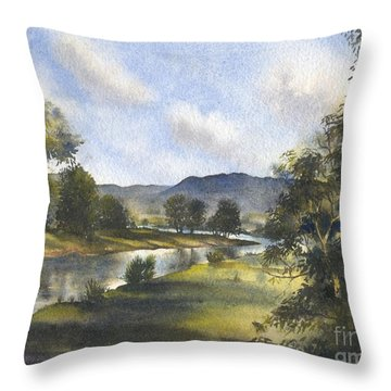 Winter In The Bellinger Valley Throw Pillow