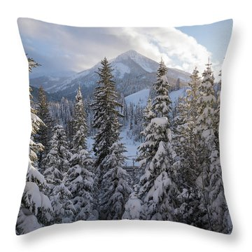 Winter In The Wasatch Throw Pillow