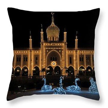 Winter In Tivoli Gardens Throw Pillow