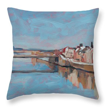 Winter In Wyck Maastricht Throw Pillow
