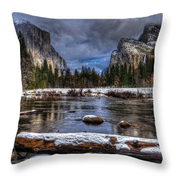 Winter In Yosemite Valley Throw Pillow
