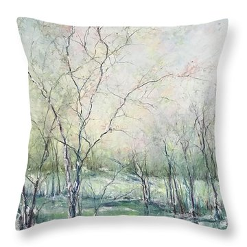 Winter Interlude Throw Pillow