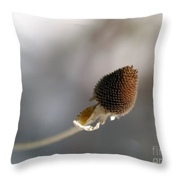 Winter Is Lurking Throw Pillow