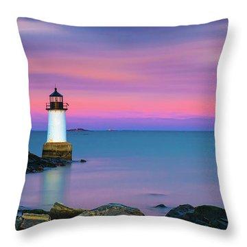 Winter Island Light 1 Throw Pillow