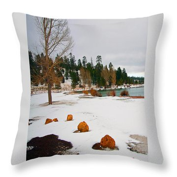 Snowy Lake Throw Pillow by Gilbert Artiaga