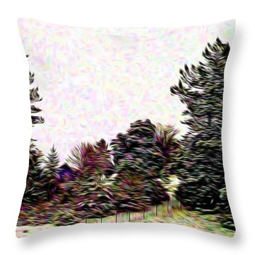 Winter Landscape 1 In Abstract Throw Pillow