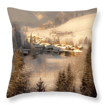 Winter Landscape Salzburger Land Throw Pillow