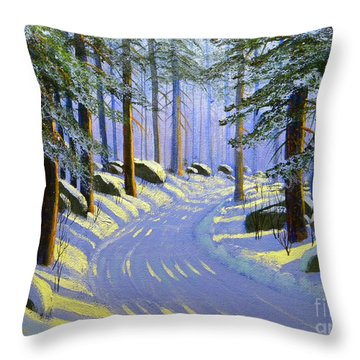 Winter Landscape Study 1 Throw Pillow by Frank Wilson