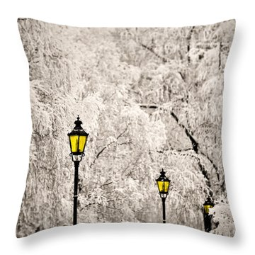 Winter Lanterns Throw Pillow