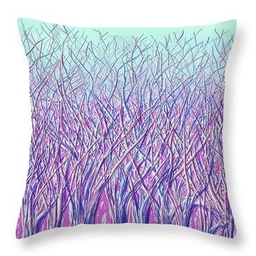 Winter Latticework Throw Pillow