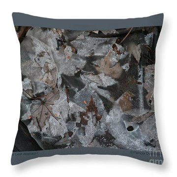 Winter Leaf Abstract-i Throw Pillow