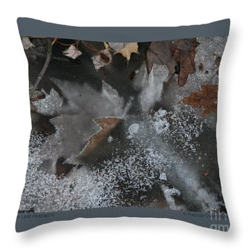 Winter Leaf Abstract-ii Throw Pillow