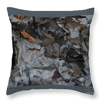 Winter Leaf Abstract-iii Throw Pillow
