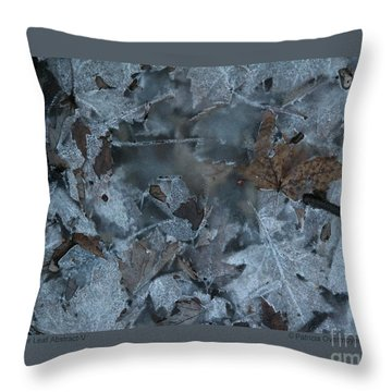 Winter Leaf Abstract-v Throw Pillow