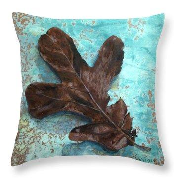 Winter Leaf Throw Pillow