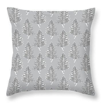 Winter Leaves- Art By Linda Woods Throw Pillow