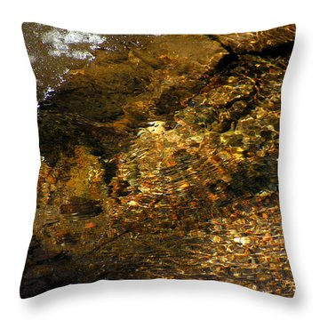 Winter Leaving Throw Pillow