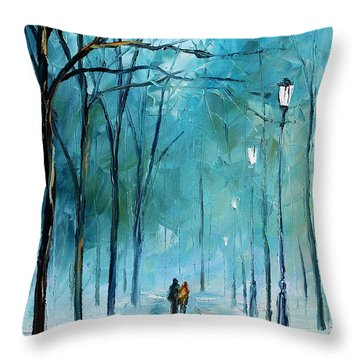 Winter Throw Pillow by Leonid Afremov