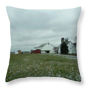 Winter Letting Go Throw Pillow