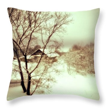 Winter Loneliness Throw Pillow
