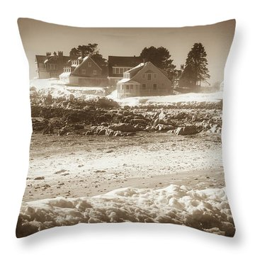 Winter - Lord's Point - Kennebunk Throw Pillow