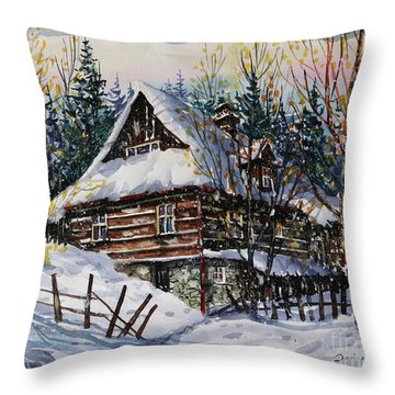Winter Magic II  Throw Pillow