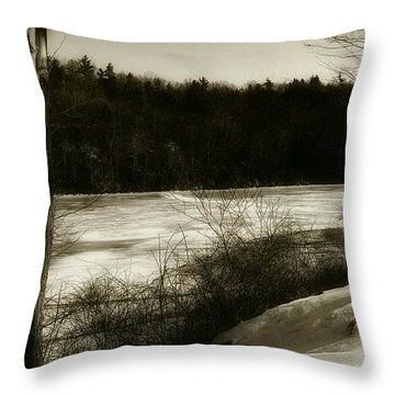 Winter Magic In Cook Forest Throw Pillow