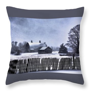 Throw Pillow featuring the photograph Winter by Mark Fuller