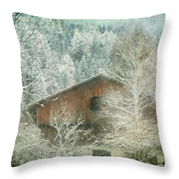 Winter Mood Throw Pillow