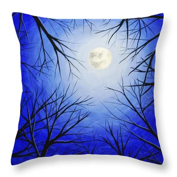 Winter Moon Throw Pillow